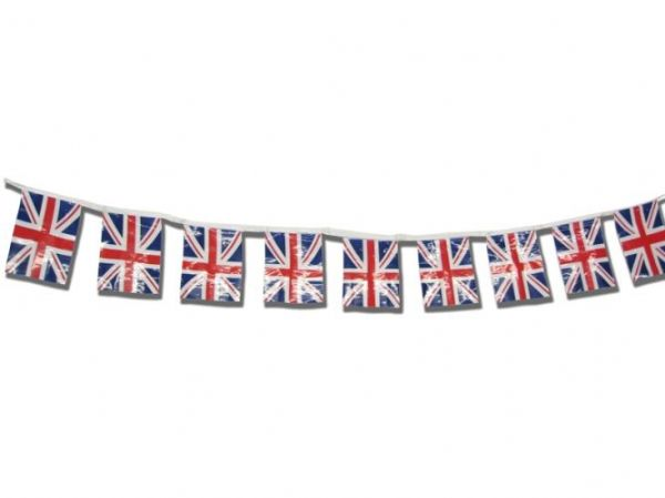 Union Jack Bunting On 9M Run Polyester Caribbean Pirate Captain